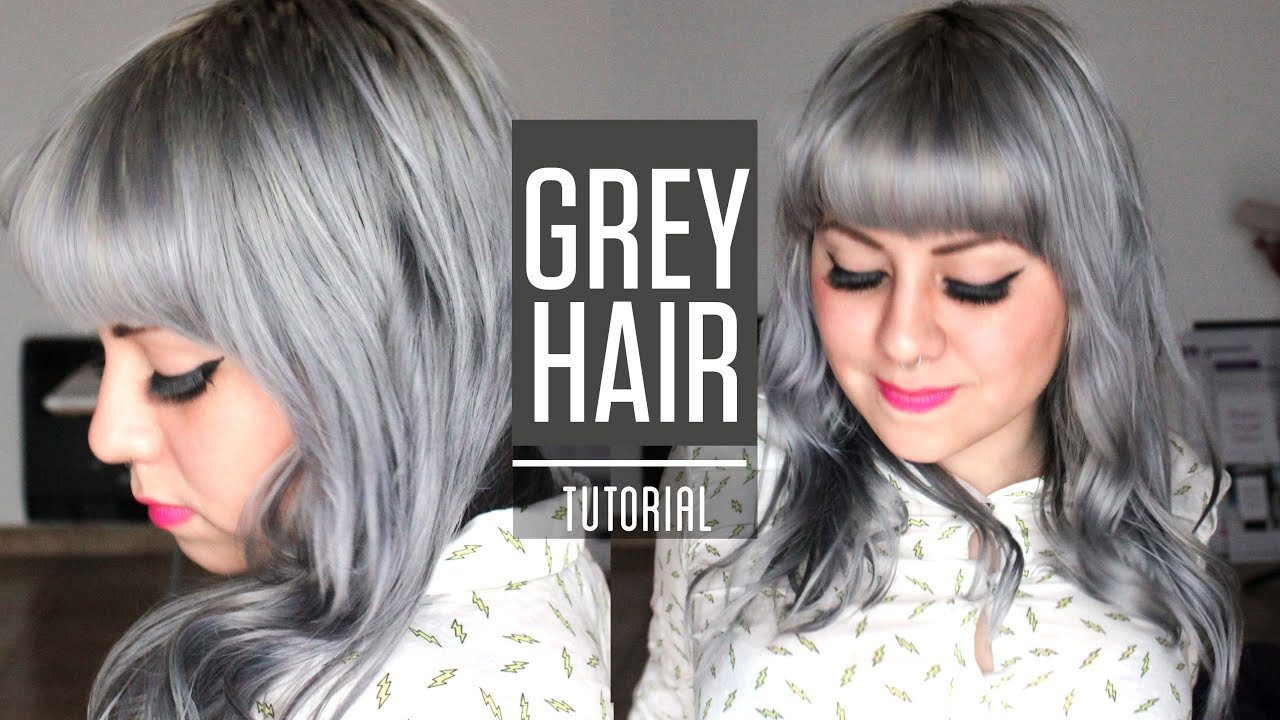 HOW TO GET SILVER GREY HAIR / Roux fancifull 41 True steel rinse ...