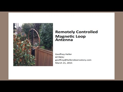 Magnetic Loop Antenna at MicroHAMS Digital Conference 2015