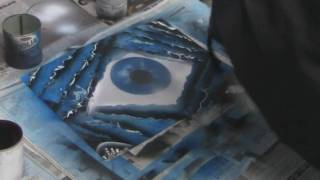 EC3 space Paintings- Blue Eyed Cavern