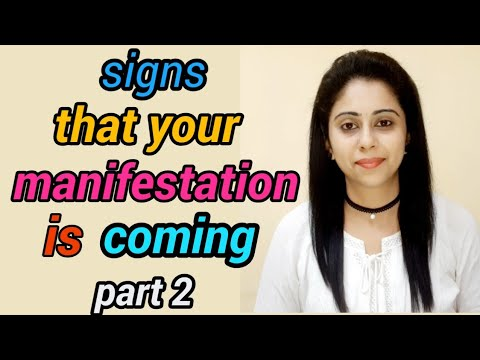 Signs that your manifestation is coming//law of attraction
