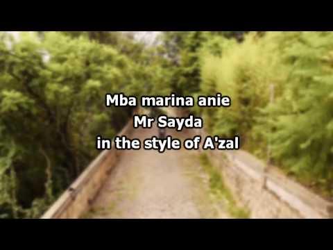Mba marina anie   Mr Sayda karaoke 2017   by A'zal