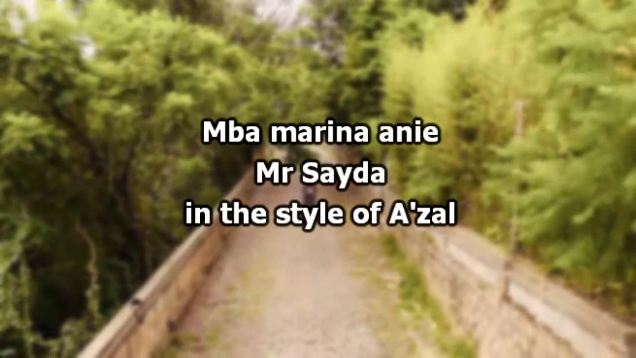 MBA MARINA SAYDA GRATUITEMENT TÉLÉCHARGER ANIE MR