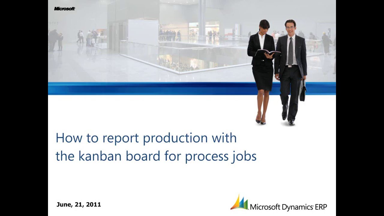 microsoft dynamics ax how to use the kanban board for process jobs