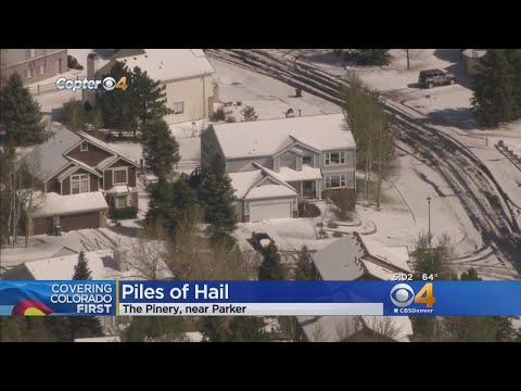 Inches Of Hail Covers Part Of Denver Metro Area