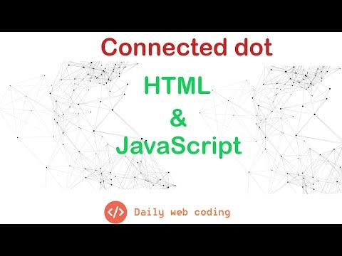 Connected Dot With HTML And Javascript
