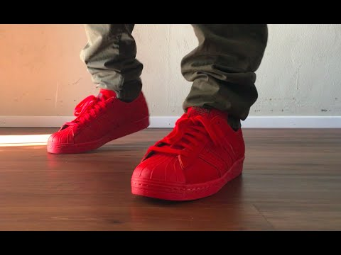 Adidas Superstar City Pack London On Feet (Red)