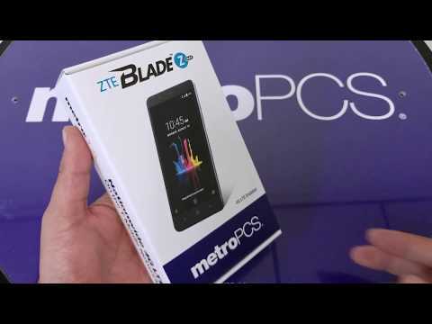 ZTE Blade ZMAX unboxing and First Look For metroPCS