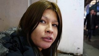 This young homeless girl has been hardened by living on the streets of Toronto .