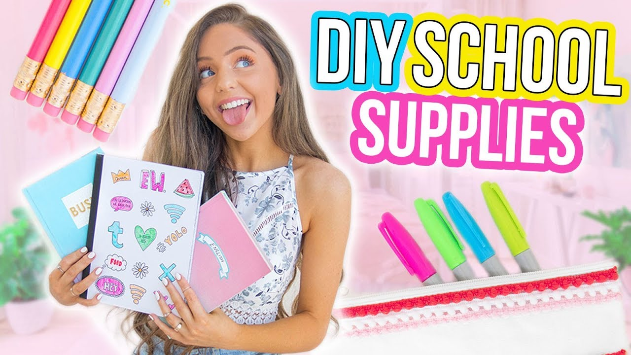 DIY BACK TO SCHOOL SUPPLIES! Notebooks + Pencil Cases 2017!