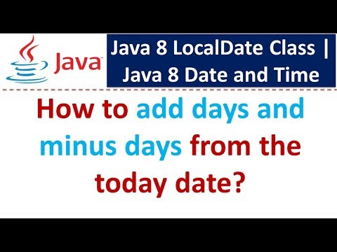 Java 8 localdate subtract