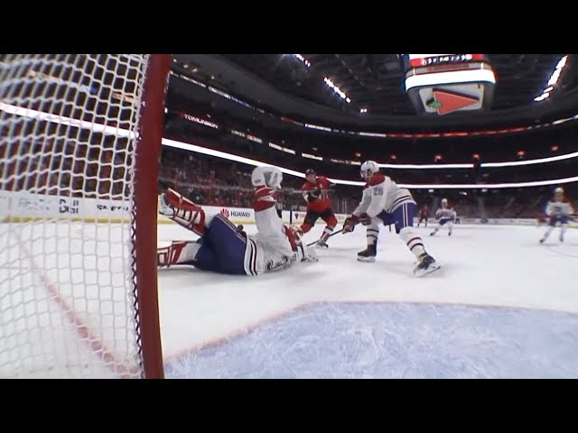 Carey Price fights off a mad scramble in front