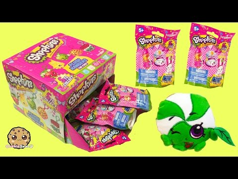 Shopkins Plush Hangers Box Of 8 Surprise Blind Bags, Find All 5? - Cookieswirlc Videos
