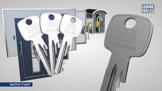 Один ключ от всех дверей - WINKHAUS keyOne X-pert - Вместо связки ключей один ключ - ИНТБК - INTBK