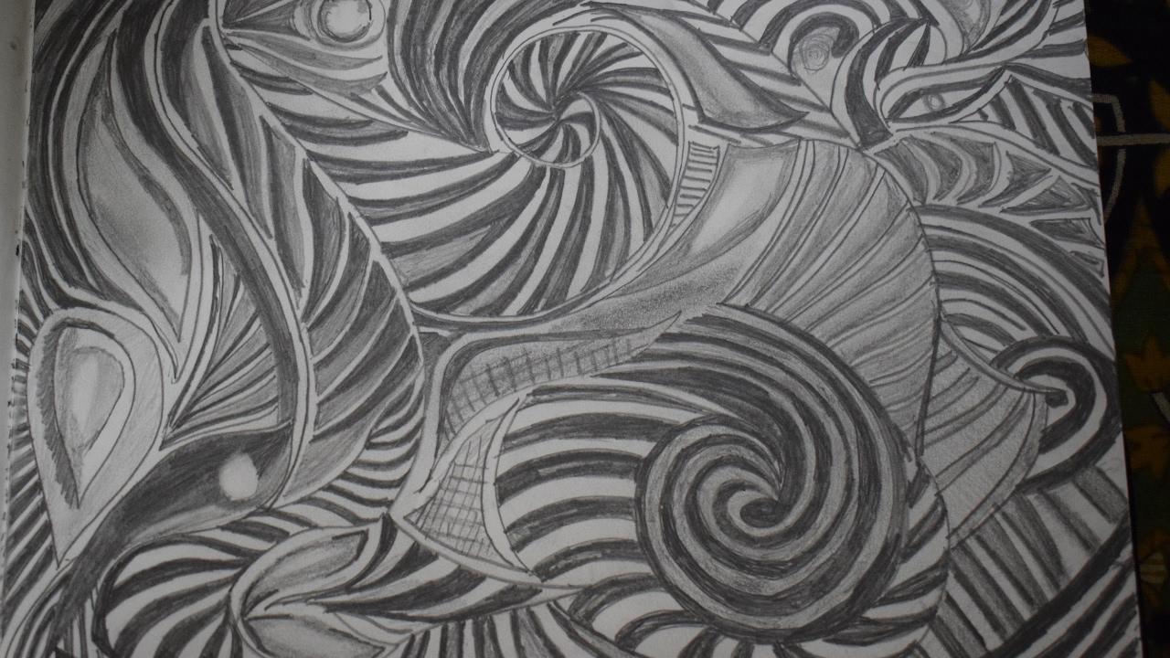 Abstract Art Pencil Sketches