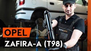 Montaggio Ammortizzatori anteriore e posteriore OPEL ZAFIRA A (F75_): video gratuito