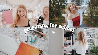 how to prepare for back to school | cleaning out my closet, school supply shopping + more