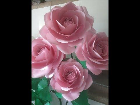 Paper Flowers Tutorial tem #20 Rose paper flower tutorial. Large Rose Tutorial. Diy Paper Rose