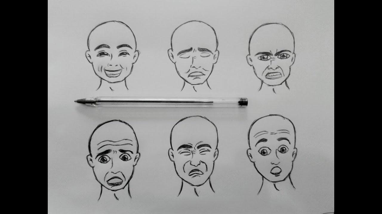 Rostos Desenhos: Como Desenhar Expressões