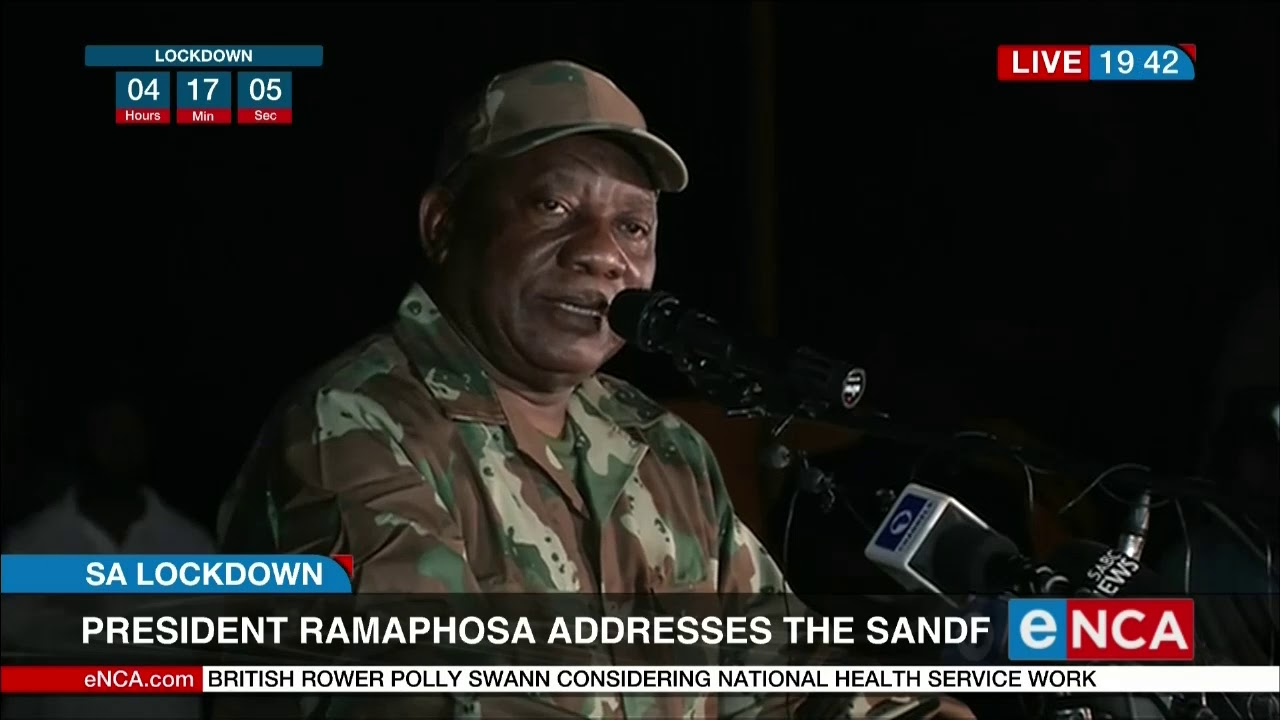 South African president Cyril Ramaphsa deploys the SANDF - eNCA
