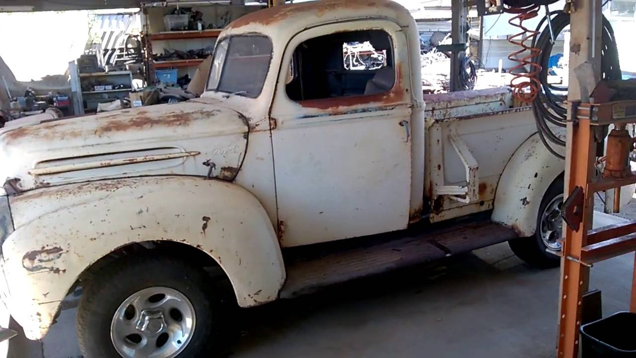 My 1947 Ford pickup truck with 1997 Ford Explorer frame swap - YouTube