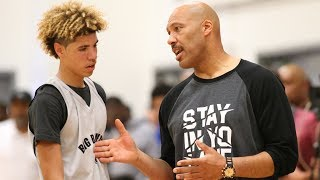 "Lavar ball yells at lamelo for not playing defense: ""you're our weakest link!"""
