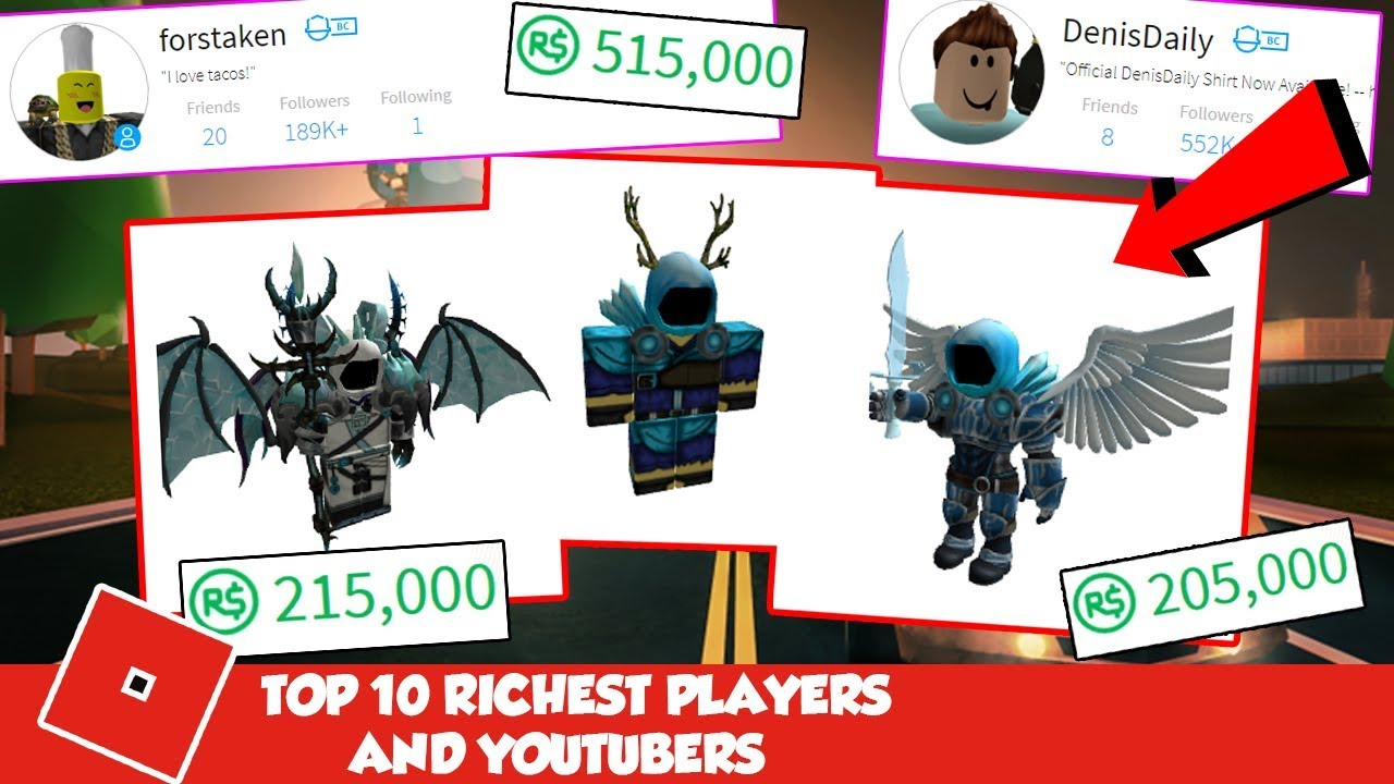 Who Is The Richest Roblox Player 2018 Rich Player Roblox Character Robux Hack Video