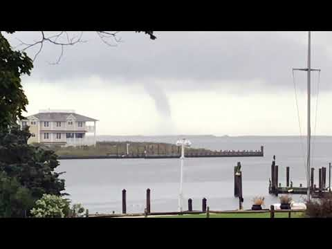 Waterspout Over The Atlantic Ocean on Eastern Long Island New York.