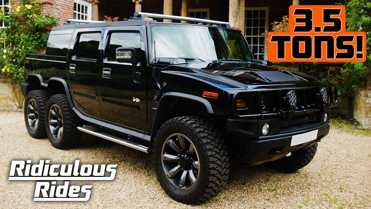 Six-Wheeled Hummer H13 Laughs In The Face Of Conventional SUVs | h2 hummers