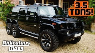 World's First 6 Wheeled Hummer SUVT | RIDICULOUS RIDES