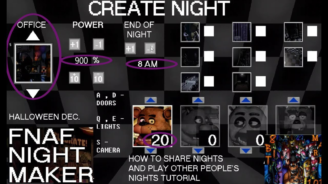 YOU CAN MAKE YOUR OWN NIGHT!!!-FNAF NIGHT MAKER (DEMO)PART 1