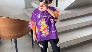 Комплекты летней одежды для мальчиков и девочек детская хлопковая футболка + штаны шаровары детские