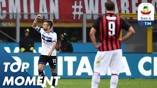 Gomez Sent A Neat Finish Past Keeper Donnarumma | Milan 2-2 Atalanta | Top Moment | Serie A