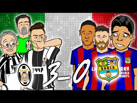 😲3-0! Juventus vs Barcelona😲 Champions League 2017 Quarter Final 1st Leg Parody
