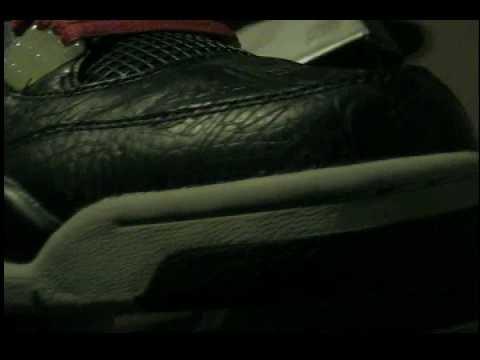 7a55943eda91fe new pick up   33 Air Jordan 4 Retro  Laser  Black   Red RARE   custom  Stingray Boots