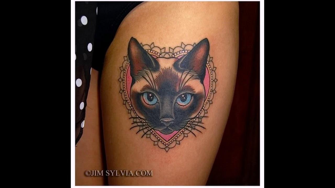 Значение тату кот - фото рисунков татуировок на теле - YouTube