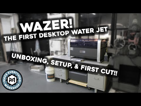 Wazer Desktop Water Jet!! Setup And First Cut! (GAME CHANGER)