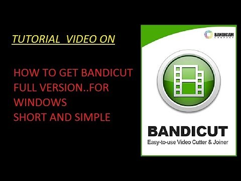 Bandicut -How To Download And Install FULL VERSION(cracked) Of This Software For Windows.