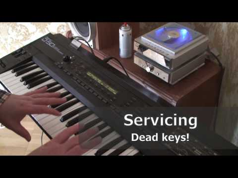Repairing Dead Keys on an Roland D-50 vintage 80s synthesizer