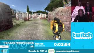 The Talos Principle by Azorae in 58:16 - Awesome Games Done Quick 2016 - Part 55