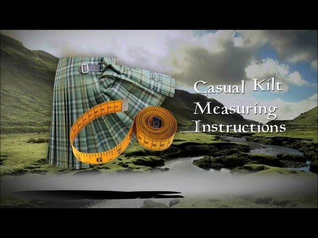 Casual Kilt Measuring Intructions