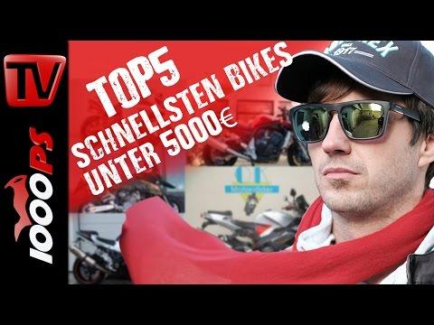 Top 5 - Leistbare Hausstrecken Killer - Die schnellsten Motorräder unter 5000 Euro