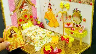 DIY Miniature Dollhouse Room ~ Belle Room Decor, Backpack