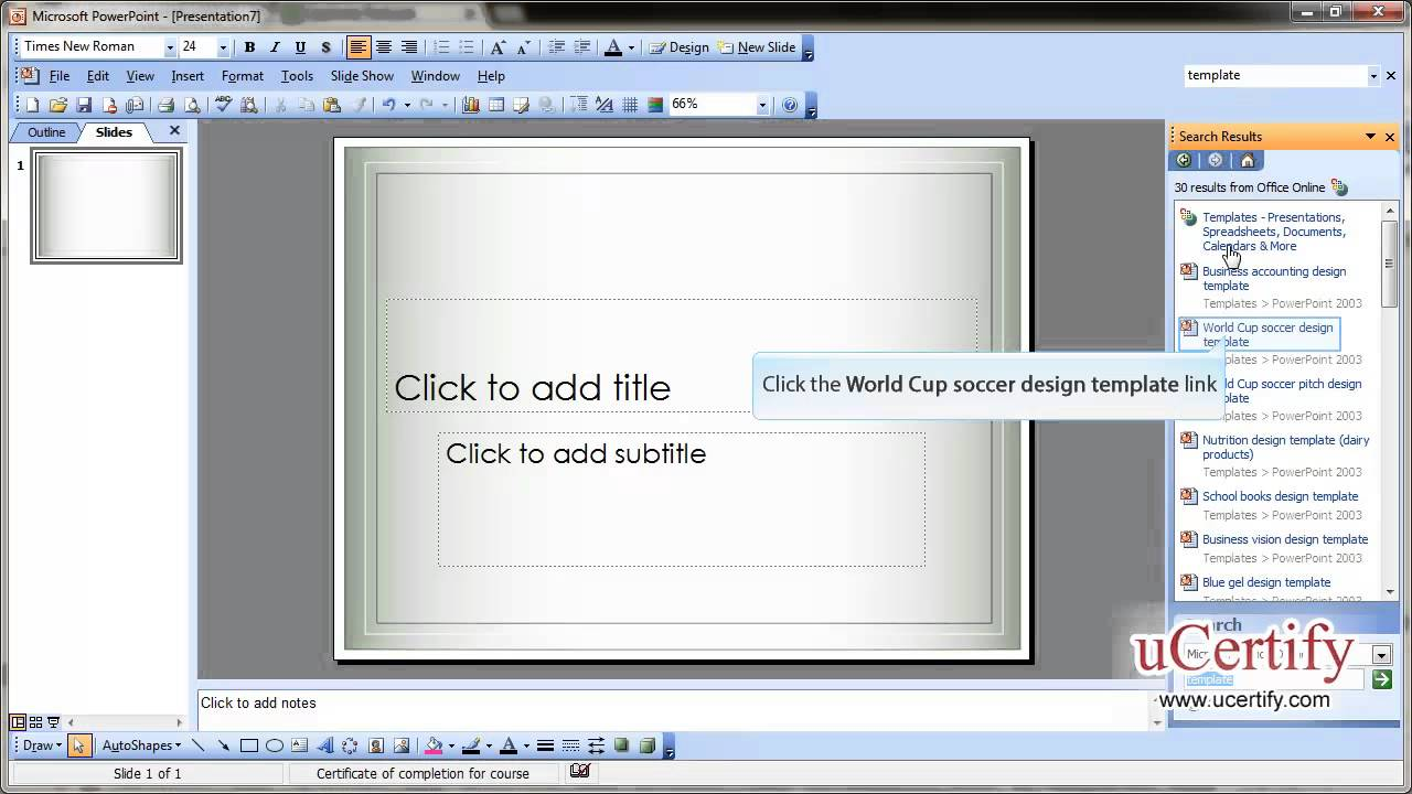 Create new blank presentation and use installed templates youtube create new blank presentation and use installed templates toneelgroepblik Images
