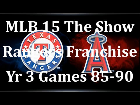 language show 3 15 85 with los angeles mlb 15 the show rangers franchise yr 3 gms 85 90