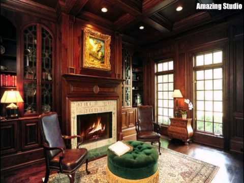 Gothic Living Room with Fireplaces