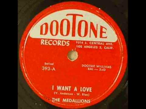 MEDALLIONS   I Want A Love   1956