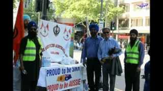 Free water sewa on Australian day Parade by Adelaide Sikh Sangat