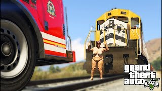 LITERALLY RAN A TRAIN ON THIS OBESE WOMAN.. GTA 5 THE STREETS!! EP #2
