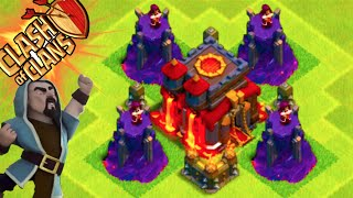 "Clash of Clans - ""WIZARD TOWER DEFENSE!"" LVL 100+ CAN'T BEAT IT! Trolling Noobs in Crystal"