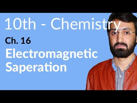 10th Class Chemistry ch 16,Electromagnetic Separation-Chemistry Chapter 16 Chemical Industries